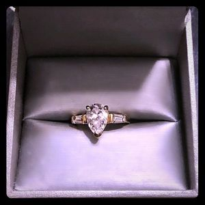 A spectacular 2.5 Ct.  Sterling Silver Gold Plated
